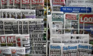 Newspapers disrupted by digital and social media